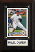 """MLB 4""""x6"""" Miguel Cabrera Detroit Tigers Player Plaque"""