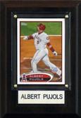 "MLB 4""x6"" Albert Pujols Los Angeles Angels Player Plaque"
