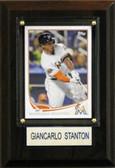 "MLB 4""x6"" Giancarlo Stanton Miami Marlins Player Plaque"