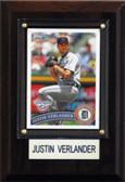 "MLB 4""x6"" Justin Verlander Detroit Tigers Player Plaque"