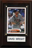 "MLB 4""x6"" David Wright New York Mets Player Plaque"