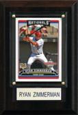 "MLB 4""x6"" Ryan Zimmerman Washington Nationals Player Plaque"