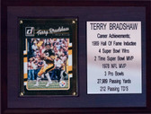 "NFL 6X8"" Terry Bradshaw Pittsburgh Steelers Career Stat Plaque"
