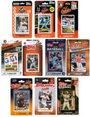 MLB Baltimore Orioles 10 Different Licensed Trading Card Team Sets