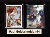 "MLB6""X8""Paul Goldschmidt Arizona Diamondbacks Two Card Plaque"