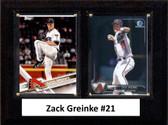 "MLB6""x8""Zack Greinke Arizona Diamondbacks Two Card Plaque"