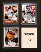 """MLB8""""x10""""Adam Jones Baltimore Orioles Three Card Plaque"""