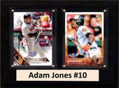 "MLB6""X8""Adam Jones Baltimore Orioles Two Card Plaque"