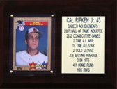"MLB6""X8""Cal Ripken Jr. Baltimore Orioles Player Stat Plaque"