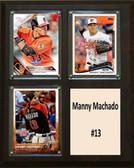 "MLB8""x10""Manny Machado Baltimore Orioles Three Card Plaque"