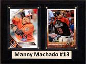 "MLB6""X8""Manny Machado Baltimore Orioles Two Card Plaque"