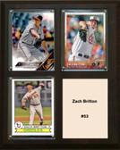 """MLB8""""x10""""Zach Britton Baltimore Orioles Three Card Plaque"""