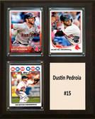 "MLB8""x10""Dustin Pedroia Boston Red Sox Three Card Plaque"