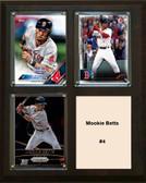 "MLB8""x10""Mookie Betts Boston Redsox Three Card Plaque"