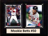 "MLB6""X8""Mookie Betts Boston Redsox Two Card Plaque"