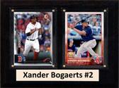 "MLB6""X8""Xander Bogaerts Boston Redsox Two Card Plaque"