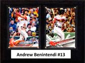 "MLB6""x8""Andrew Benintendi Boston Red Sox Two Card Plaque"