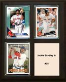 """MLB8""""x10""""Jackie Bradley Jr Boston Redsox Three Card Plaque"""