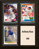 "MLB8""x10""Anthony Rizzo Chicago Cubs Three Card Plaque"