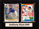"MLB6""X8""Anthony Rizzo Chicago Cubs Two Card Plaque"
