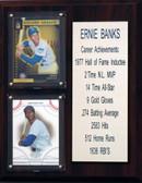 "MLB8""X10""Ernie Banks Chicago Cubs Career Stat Plaque"