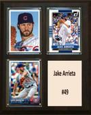 "MLB8""X10""Jake Arrieta Chicago Cubs Three Card Plaque"