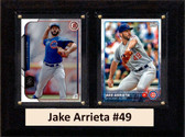 "MLB6""X8""Jake Arrieta Chicago Cubs Two Card Plaque"