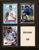 "MLB8""X10""John Lester Chicago Cubs Three Card Plaque"