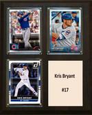 "MLB8""X10""Kris Bryant Chicago Cubs Three Card Plaque"