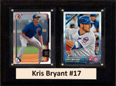 "MLB6""X8""Kris Bryant Chicago Cubs Two Card Plaque"