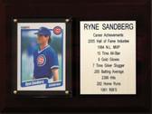 "MLB6""X8""Ryne Sandberg Chicago Cubs Career Stat Plaque"