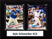 "MLB6""x8""Kyle Schwarber Chicago Cubs Two Card Plaque"