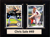 """MLB6""""X8""""Chris Sale Chicago White Sox Two Card Plaque"""