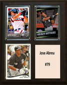 "MLB8""x10""Jose Abreu Chicago White Sox Three Card Plaque"