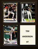 "MLB8""x10""Tim Anderson Chicago White Sox Three Card Plaque"