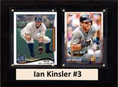 "MLB6""X8""Ian Kinsler Detroit Tigers Two Card Plaque"