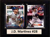 "MLB6""X8""J.D. Martinez Detroit Tigers Two Card Plaque"