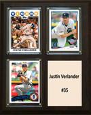 """MLB8""""x10""""Justin Verlander Detroit Tigers Three Card Plaque"""