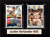 "MLB6""X8""Justin Verlander Detroit Tigers Two Card Plaque"