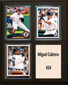"MLB6""X8""Miguel Cabrera Detroit Tigers Two Card Plaque"