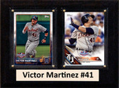 """MLB6""""X8""""Victor Martinez Detroit Tigers Two Card Plaque"""