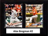 "MLB6""x8""Alex Bregman Houston Astros Two Card Plaque"