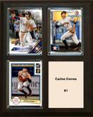 "MLB8""x10""Carlos Correa Houston Astros Three Card Plaque"