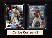 "MLB6""X8""Carlos Correa Houston Astros Two Card Plaque"
