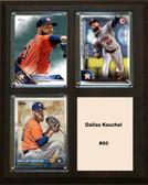 "MLB8""x10""Dallas Keuchel Houston Astros Three Card Plaque"