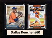 "MLB6""X8""Dallas Keuchel Houston Astros Two Card Plaque"