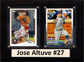 "MLB6""X8""Jose Altuve Houston Astros Two Card Plaque"