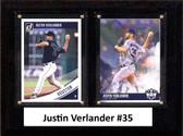 "MLB6""x8""Justin Verlander Houston Astros Two Card Plaque"