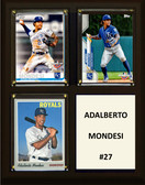 "MLB8""x10""Adalberto Mondesi Kansas City Royals Three Card Plaque"