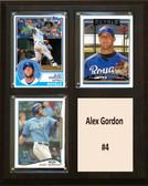 "MLB8""X10""Alex Gordon Kansas City Royals Three Card Plaque"